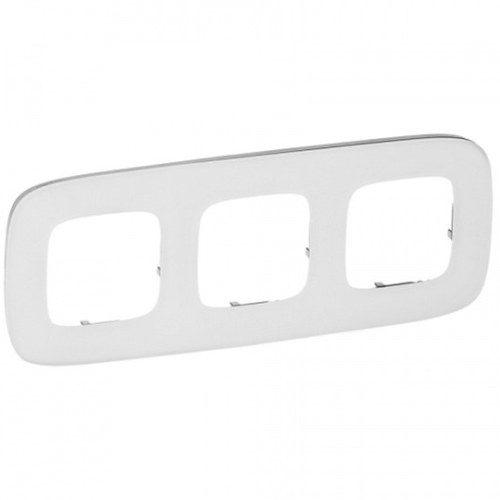 Legrand Valena Allure Рамка 3 местная универсальная Белое стекло