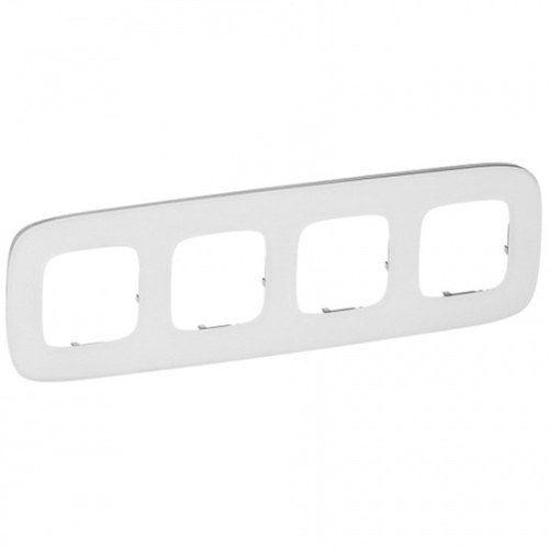 Legrand Valena Allure Рамка 4 местная универсальная Белое стекло