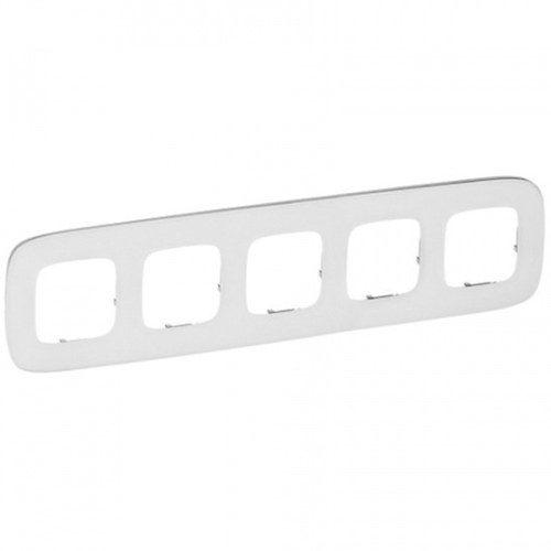 Legrand Valena Allure Рамка 5 местная универсальная Белое стекло