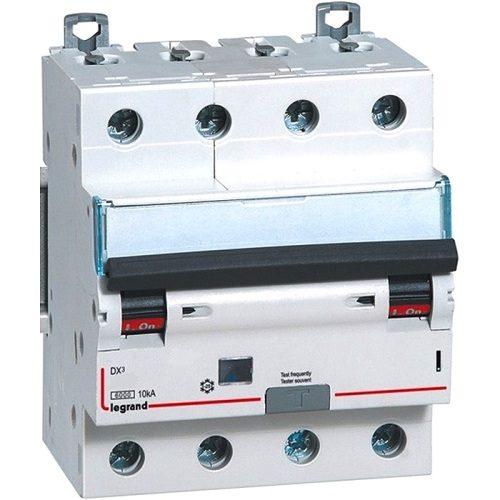 Legrand Автоматический четырёхполюсный выключатель дифференциального тока Legrand DX3 С25 AC30