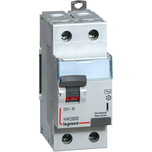 Выключатель дифференциальный двухполюсный (УЗО) Legrand DX3-ID 25А AC100