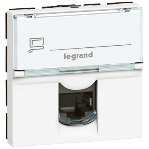 Legrand Mosaic Розетка компьютерная RJ45 (Кат.5е UTP) 2 модуля