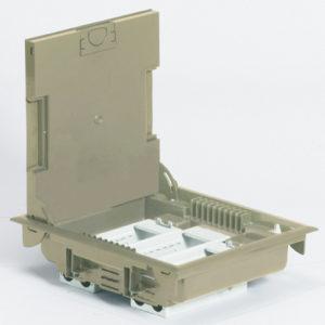 Напольная коробка с глубиной 75-105 мм 12 модулей - под покрытие, бежевый RAL