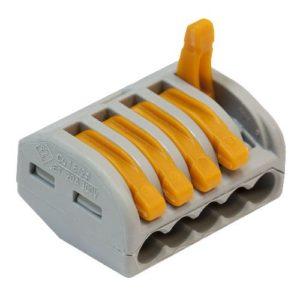 Клеммник 222-415 Wago 0.08-4.0мм² 5-ти проводной