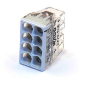 Зажим клемма Wago на 8 проводов 0.5-2.5 мм² с пастой