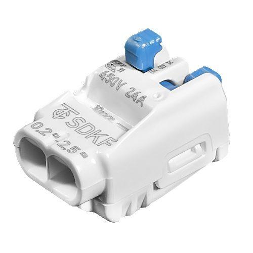 Зажим клемма Wago SDKF на 2 провода 0.5-2.5 мм²