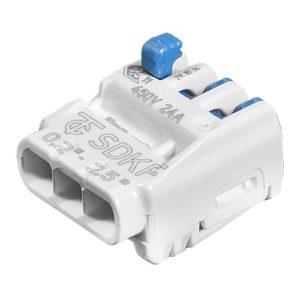 Зажим клемма Wago SDKF на 3 провода 0.2-2.5 мм²