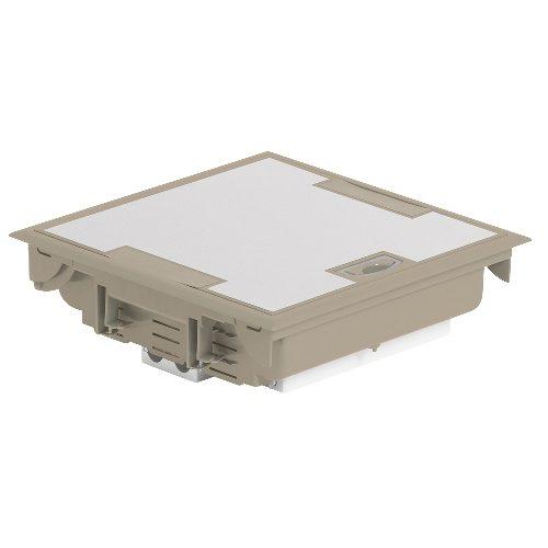 Напольная коробка с глубиной 75-105 мм 24 модуля - под покрытие, бежевый RAL