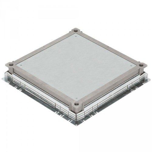 Сплошная крышка металлическая для встраивания напольных коробок 24/16 модулей