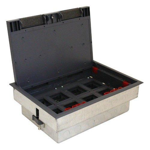 Коробка с суппортами для люка LUK/8 в пол, металлическая для заливки в бетон Экопласт