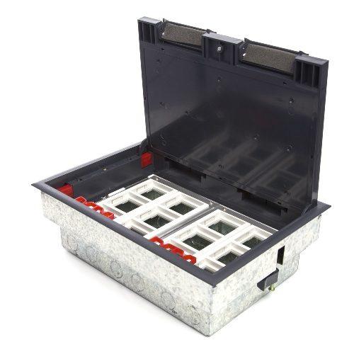 LUK/12 Люк в пол на 12 модулей (45х45мм) в комплекте с коробкой и суппортами