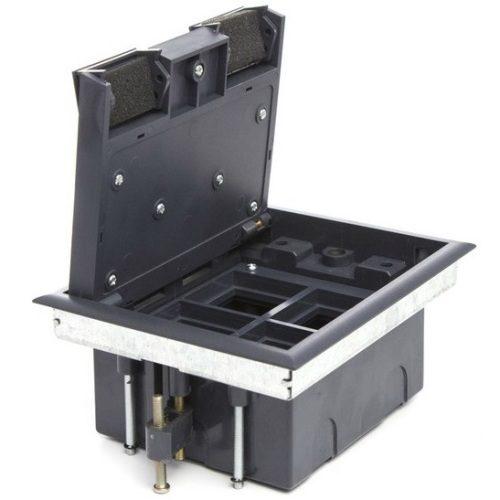 LUK/4 Люк в пол Экопласт на 4 механизма (45х45мм) стальной, с суппортом и коробкой
