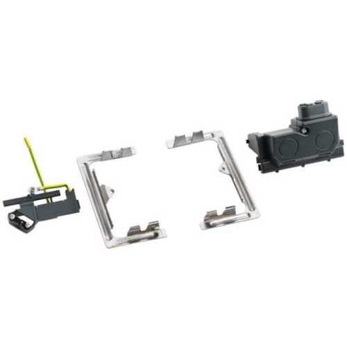 Установочный набор для выдвижного розеточного блока 3 модуля
