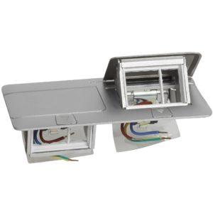 Выдвижной розеточный блок IP 40 6 модулей алюминий