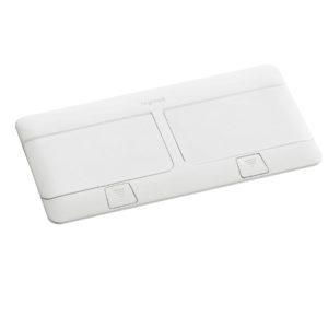 Выдвижной розеточный блок IP 40 8 модулей белый