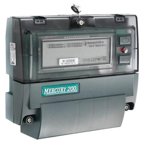 Счетчик электроэнергии Меркурий 200.02 однофазный многотарифный с CAN-шиной