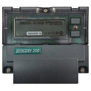 Счетчик электроэнергии Меркурий 200.04 однофазный многотарифный с PLC модемом