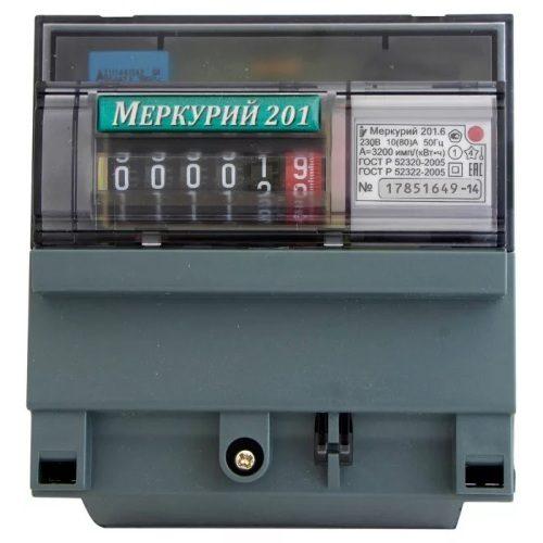 Электросчетчик Меркурий 201.6 однотарифный механический