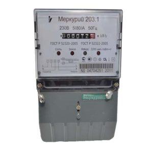 Электросчетчик Меркурий 203.1 однотарифный механический