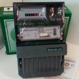 Электросчетчик Меркурий 230 АМ-00 трехфазный, активной электрической энергии однотарифный