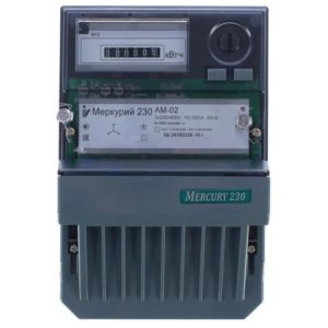Электросчетчик Меркурий 230 АМ-02 трехфазный, активной электрической энергии однотарифный