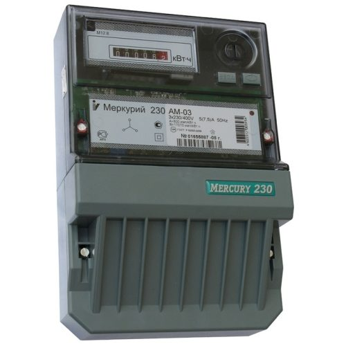 Электросчетчик Меркурий 230 АМ-03 трехфазный, активной электрической энергии однотарифный