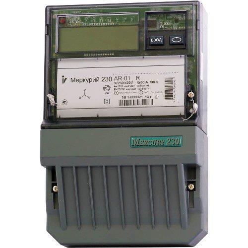 Электросчетчик Меркурий 230 AR-01 R трехфазный, активно-реактивный однотарифный