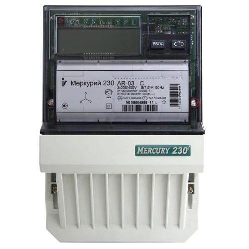 Электросчетчик Меркурий 230 AR-03 CL (с PLC модемом) трехфазный, активно-реактивный однотарифный