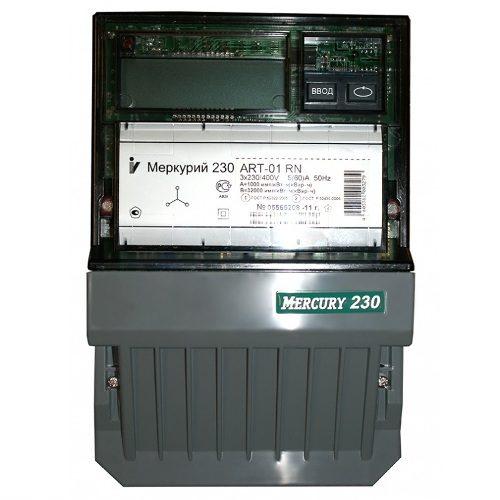 Электросчетчик Меркурий 230 АRT-01 С(R)N трехфазный, активно-реактивный многофункциональный
