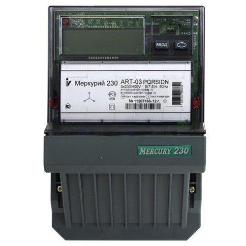 Электросчетчик Меркурий 230 АRT-03 PQRSIDN трехфазный, активно-реактивный многофункциональный