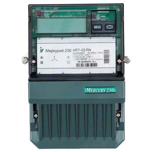 Электросчетчик Меркурий 230 АRT-03 С(R)N трехфазный, активно-реактивный многофункциональный