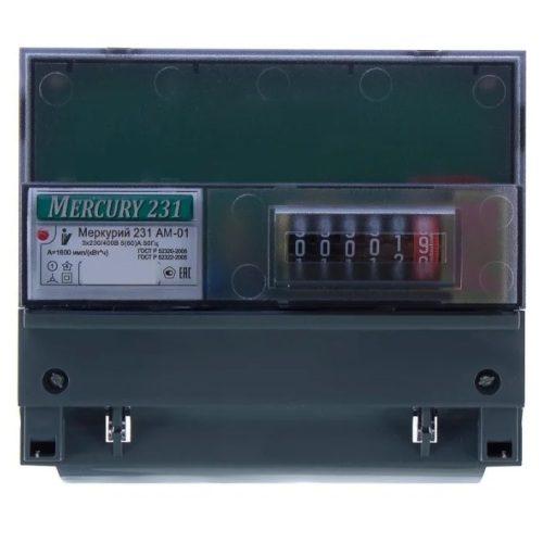 Электросчетчик Меркурий 231АM-01 трехфазный, счетчик электрической энергии однотарифный
