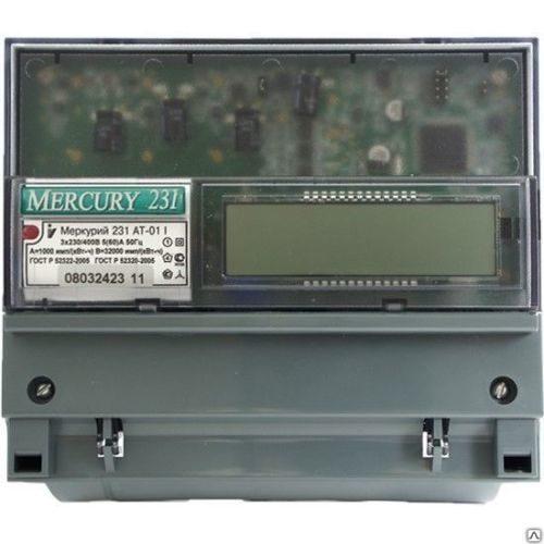 Электросчетчик Меркурий 231 АT-01 трехфазный, счетчик активной электрической энергии многотарифный