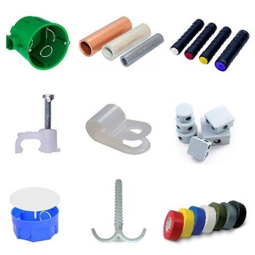 Электромонтажные изделия, изоляторы, крепёж