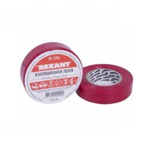 Изолента ПВХ 19 мм 25 м цвет красный Rexant