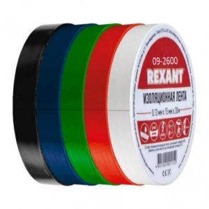 Изолента ПВХ 15 мм 20 м набор 5 шт. (5 цветов) Rexant