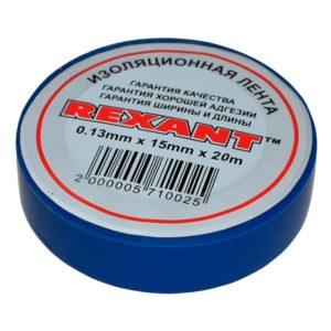 Изолента ПВХ 15 мм 20 м цвет синий Rexant