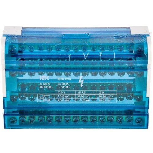 Кросс-модуль на DIN-рейку 3L+PEN 4х15 контактов IEK