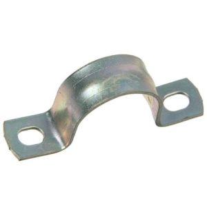 Крепежная скоба для металлорукава (двухлапковая)