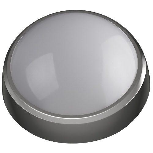 Светодиодный светильник для ЖКХ IP54 8Вт 4000К 640лм круг 180х75 серебро ЭРА