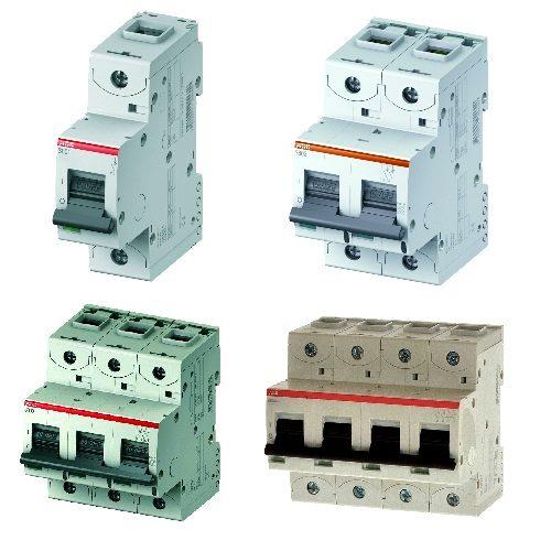 Автоматические выключатели модульные ABB S800C