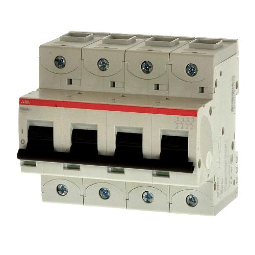 Автоматический выключатель четырехполюсный ABB S804C C100