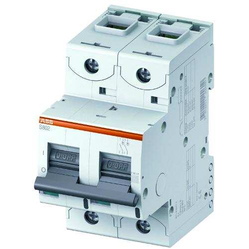 Автоматический выключатель двухполюсный ABB S802C C80