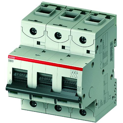 Автоматический выключатель трехполюсный ABB S803C C100