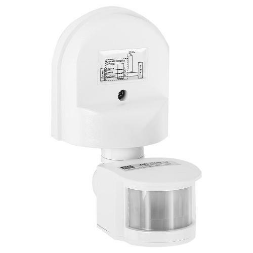 Датчик движения инфракрасный ДД-008-W 1200Вт 180 градусов 12м IP44 белый ASD