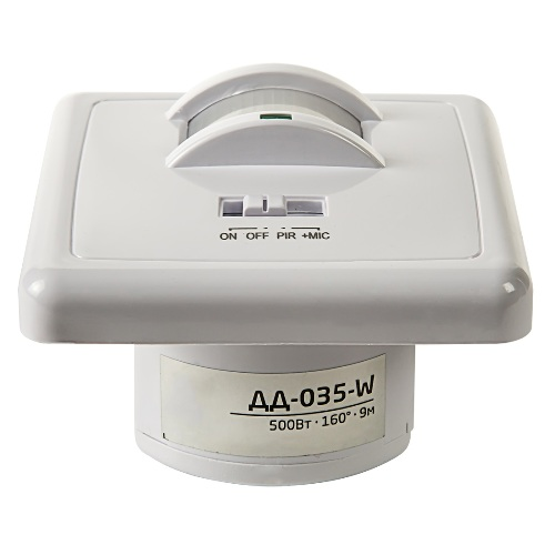 Датчик движения инфракрасный ДД-035-W 500Вт 140 градусов 12м IP20 белый ASD