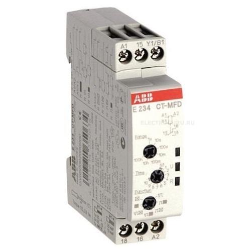 Реле времени ABB CT-MFD.12 (7 функций) 24-48B DC, 24- 240B AC (7 диапазонов 0,05с....100ч) 1ПК