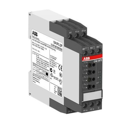 Реле контроля тока CM-SFS.21S (Imax и Imin) (диапаз. изм. 3-30мА, 10-100мA, 0.1-1A) питание 24-240В