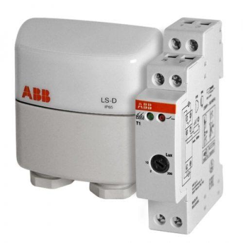 Реле освещенности ABB T1 c датчиком 1 диапазон