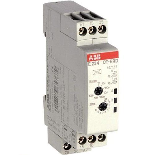 Реле времени ABB CT-ERD.22 (задержка на включ.) 24-48B DC, 24- 240B AC (7 диапазонов 0,05с....100ч) 2П